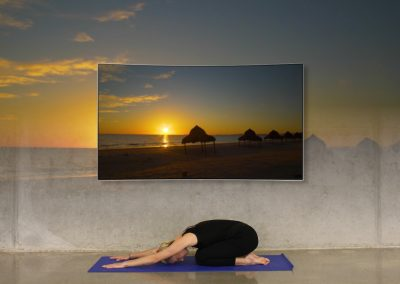 Use relax scenes nature videos when doing yoga